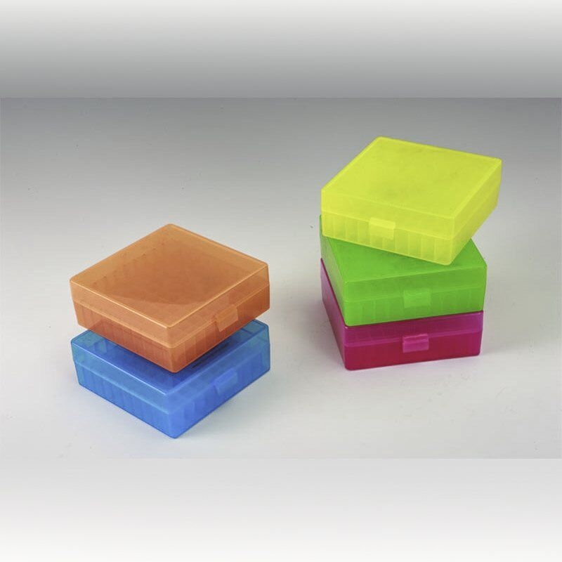 100-Cell Hinged Plastic Boxes