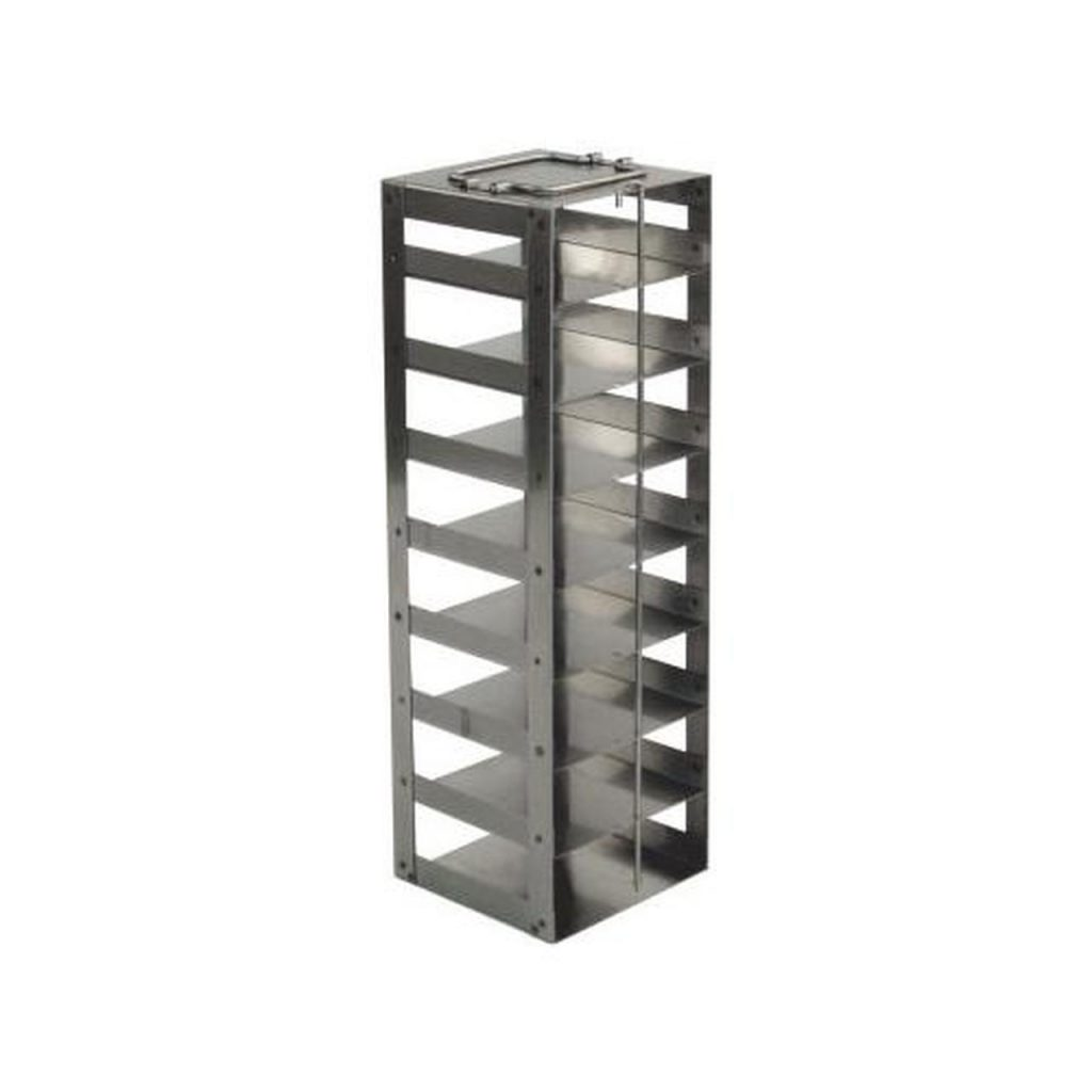 Racks for Chest Freezers & LN2 Tanks with 2″ Boxes